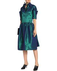 Christopher Kane - Green Silk-blend Taffeta Dress - Lyst