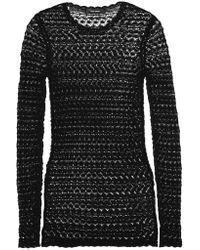 Isabel Marant | Black Dulcie Crocheted Cotton Top | Lyst