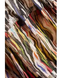 Isabel Marant - Multicolor Cotton-paneled Printed Silk-chiffon Top - Lyst