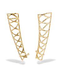 Noir Jewelry   Metallic Gold-tone Ear Cuffs   Lyst