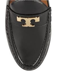 Tory Burch | Black Townsend Leather Loafers | Lyst