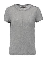J Brand | Gray Jaden Slub Stretch-jersey T-shirt | Lyst