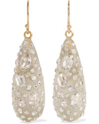 Alexis Bittar - White Gold-tone Enamel And Glass Earrings - Lyst