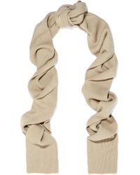 Totême  - Natural Genava Ribbed-knit Scarf - Lyst