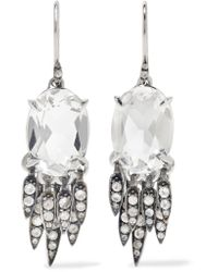 Alexis Bittar - Metallic Silver-tone Crystal Earrings - Lyst