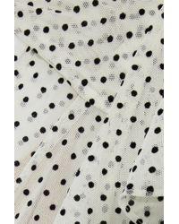 Marissa Webb - Multicolor Woman Presley Wrap-effect Flocked Tulle Blouse Off-white - Lyst