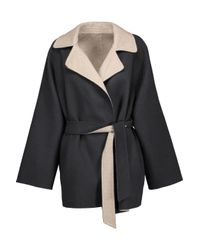 Max Mara - Gray Two-tone Wool And Angora-blend Felt Coat - Lyst