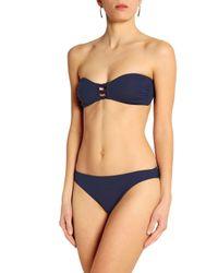 Iris & Ink - Blue Sadie Knotted Bandeau Bikini - Lyst