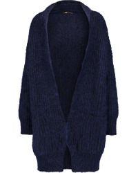 Maje | Blue Menphis Mohair-blend Cardigan | Lyst