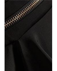 Cushnie et Ochs - Black Zip-embellished Neoprene Mini Dress - Lyst