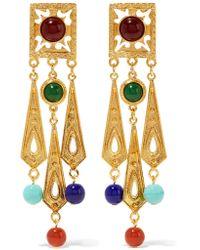 Ben-Amun | Metallic Gold-tone Bead Clip Earrings | Lyst