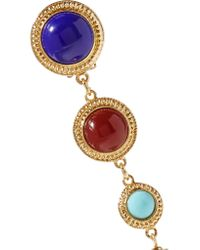 Ben-Amun - Metallic Gold-tone Stone Clip Earrings - Lyst