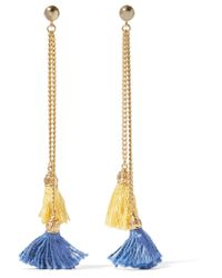 Ben-Amun - Metallic Gold-tone Tassel Earrings - Lyst