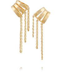 Noir Jewelry | Metallic Hidden Falls Gold-tone Ear Cuff | Lyst