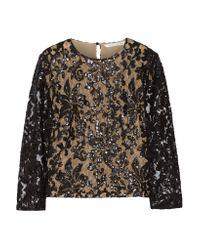 Diane von Furstenberg | Black Belle Sequin-embellished Lace Top | Lyst