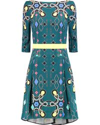 Peter Pilotto | Multicolor Disc Printed Cady Dress | Lyst
