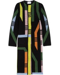 Peter Pilotto | Multicolor Track Ribbed Stretch Wool-blend Coat | Lyst