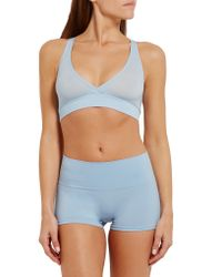 Yummie By Heather Thomson | Blue Mallory Stretch-jersey Soft-cup Bra | Lyst