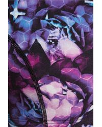 Yummie By Heather Thomson - Multicolor Printed Stretch-cotton Sports Bra - Lyst