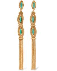 Aurelie Bidermann | Metallic Sunset Gold-plated Stone Clip Earrings | Lyst