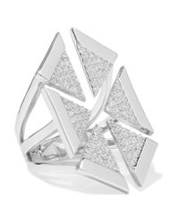 Noir Jewelry - Metallic Anadolu Silver-tone Crystal Ring - Lyst