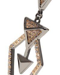 Noir Jewelry - Metallic Hostage Gunmetal-tone Crystal Earrings - Lyst