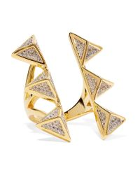 Noir Jewelry | Metallic Dungeon Gold-tone Crystal Ring | Lyst