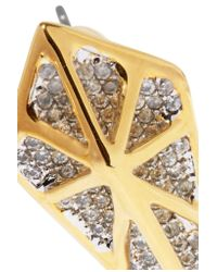 Noir Jewelry - Metallic Hidden Gold-tone Crystal Earrings - Lyst