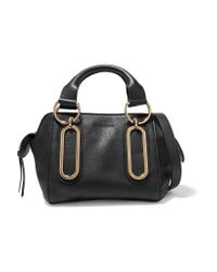 See By Chloé | Black Paige Small Textured-leather Shoulder Bag | Lyst