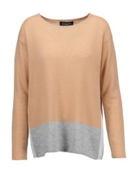 Magaschoni | Natural Color-block Cashmere Sweater | Lyst