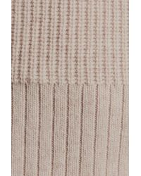 Magaschoni - Natural Ribbed Wool And Cashmere-blend Turtleneck Sweater - Lyst