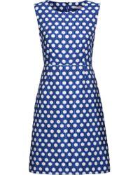 Diane von Furstenberg | Blue Carrie Printed Crepe Mini Dress | Lyst