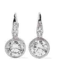 Kenneth Jay Lane | Metallic Silver-tone Crystal Earrings | Lyst