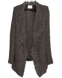 IRO | Brown Campbell Oversized Textured-knit Cardigan | Lyst