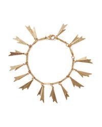 Elizabeth Cole | Metallic Genny Gold-tone Bracelet | Lyst