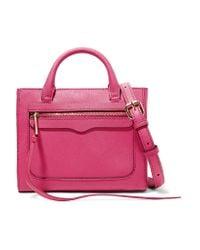 Rebecca Minkoff | Multicolor Avery Mini Textured-leather Shoulder Bag | Lyst