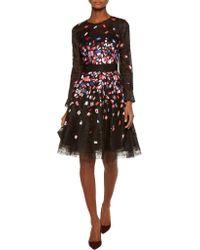 Noir Sachin & Babi - Black Milbia Embroidered Lace, Tulle And Silk-organza Mini Dress - Lyst