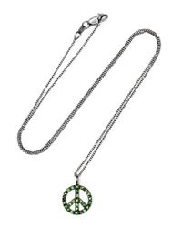 Ileana Makri - Green Peace 18-karat White Gold Tsavorite Necklace - Lyst