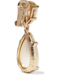 Kenneth Jay Lane - Metallic Gold-tone Faux Pearl Earrings - Lyst
