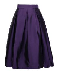 Raoul | Purple Florence Pleated Silk-blend Satin-twill Skirt | Lyst