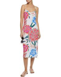 Mara Hoffman - Multicolor Floral-print Gauze Midi Dress - Lyst