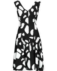 Norma Kamali | Black Grace Reversible Pleated Printed Stretch-jersey Dress | Lyst