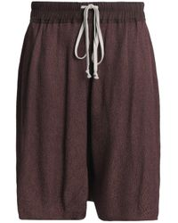 Rick Owens - Woman Plissé-jacquard Shorts Brown - Lyst