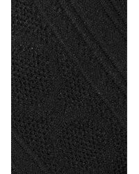 Roland Mouret | Black Nicholas Off-the-shoulder Stretch-knit Top | Lyst