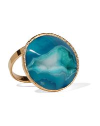 Dara Ettinger | Blue Gold-plated Stone Ring | Lyst