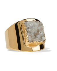 Dara Ettinger | Metallic Gold-tone Stone Ring | Lyst