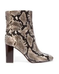 Tory Burch | Multicolor Devon Snake-effect Leather Ankle Boots | Lyst