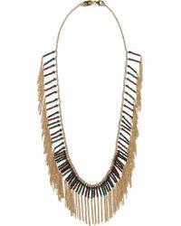 Rosantica   Metallic Nepal Gold-dipped Multi-stone Necklace   Lyst