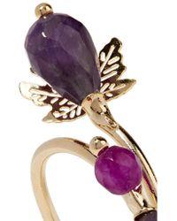 Rosantica - Purple Acacia Gold-tone Stone Ring - Lyst
