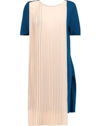 Vionnet - Multicolor Layered Wrap-effect Jersey Tunic - Lyst